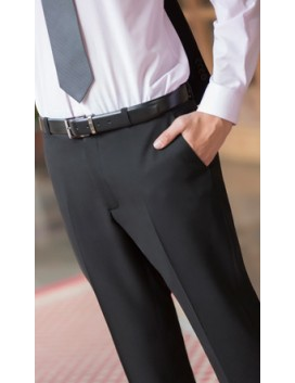 Pantalón hombre vestir sin pinzas microfibra