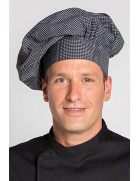 Gorro cocinero cuadro negro